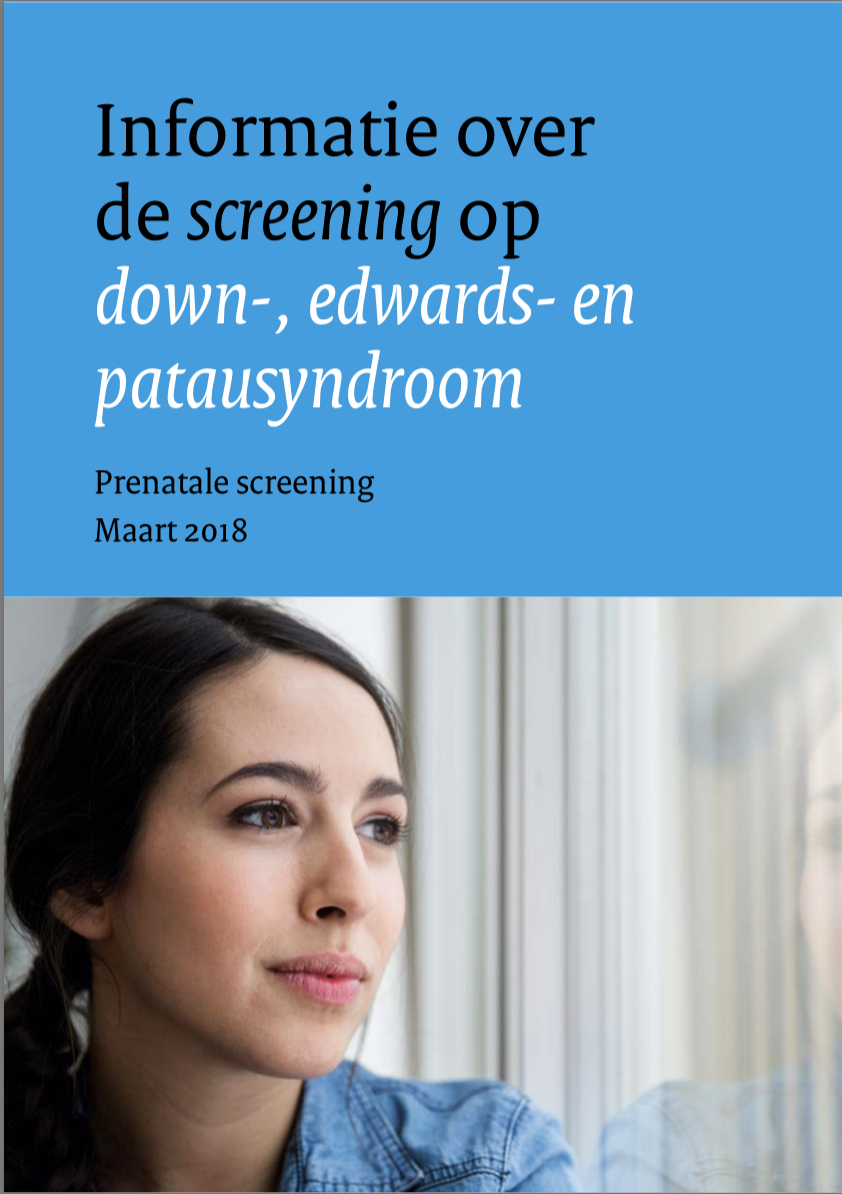Information about the screening for Down syndrome, Edwards' syndrome and Patau's syndrome (may 2019)
